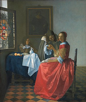 The Wine Glass - Johannes Vermeer, The Girl with the Wine Glass (1659–1660)
