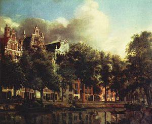 Michael Reyniersz Pauw - The greyish mansion in the middle, belonging to Pauw, was painted by Jan van der Heyden