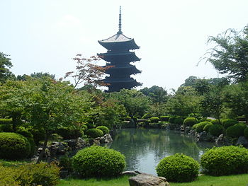 Toji pagoda in Kyoto, Japan