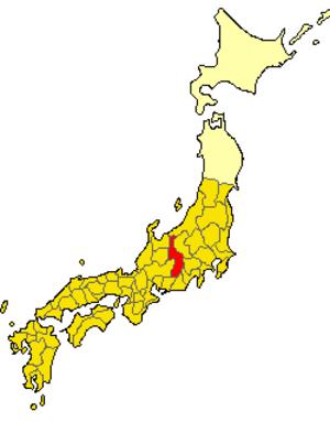 Suwa Province - Location of Suwa Province (721)