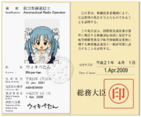 Japanese License of Aeronautical Radio Operator.png