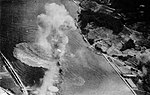 Japanese cruiser Ōyodo is bombed by U.S. Navy carrier aircraft near Kure, Japan, on 28 July 1945.jpg