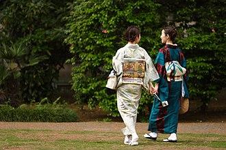 Women in Japan - Women wearing kimonos in Tokyo, Japan
