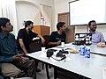 Jayanta Nath, B. Ganguly, Bodhisatwa and Tito Dutta are discussing.jpg