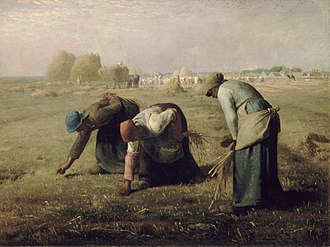 Gleaning - The Gleaners by Jean-François Millet, 1857.