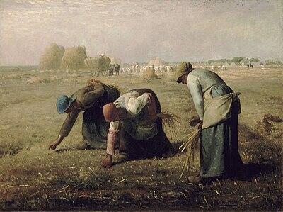 Las espigadoras, escena de campesinos