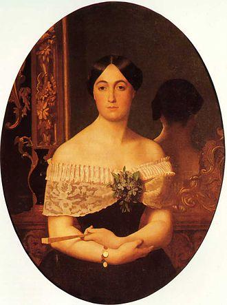 Alphonse de Lamartine - Madame de Lamartine portraited by Jean-Léon Gérôme (1849)