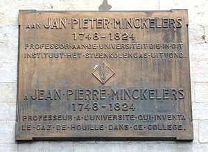 Jean-Pierre Minckelers - Memorial plaque at the Catholic University of Leuven