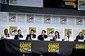 Jeffrey Wright, Evan Rachel Wood, Lisa Joy, Jonathan Nolan, Thandie Newton, Tessa Thompson & Aaron Paul (48452494862).jpg