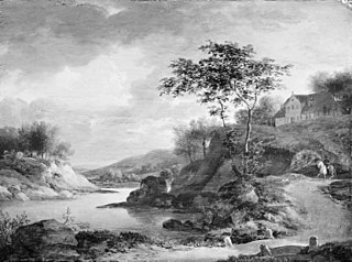 An Autumn Landscape by the Rhine