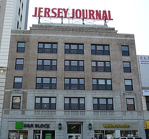 The Jersey Journal - The newspaper's former headquarters at 30 Journal Square