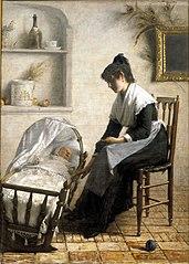 Jeune mère arlésienne