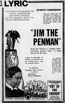 Jim the Penman (1921) - Ad 1.jpg