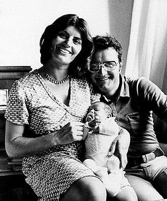 Jimmy Fontana - Fontana with wife Leda and son Roberto in Treia, Italy, ca.1970