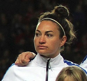 Jodie Taylor - Taylor with England in 2015