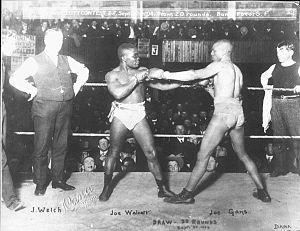 Barbados Joe Walcott - Walcott (left) with Joe Gans in 1904