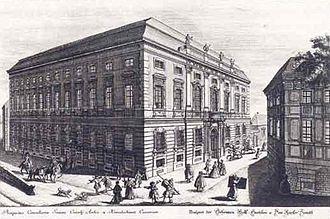 Federal Chancellery of Austria - Hofkanzlei, 1733 engraving