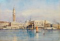 Johann Gottfried Steffan Venedig Blick auf Dogenpalast.jpg