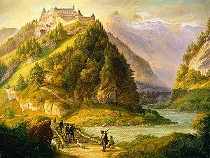 Hohenwerfen Castle - Johann Michael Sattler: Festung Hohenwerfen, 1827/28