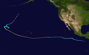 Map plotting the track and the intensity of the storm, according to the Saffir-Simpson scale John 1994 track.png