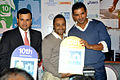 John Abraham, Rahul Bose at the Press conference of Standard Chartered Mumbai Marathon 2013 02.jpg