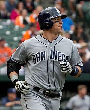 John Baker (baseball) - Baker with the San Diego Padres