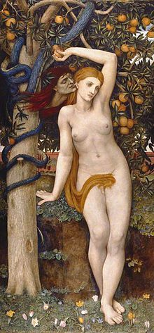 John Roddam Spencer Stanhope - Eve Tempted, 1877.jpg