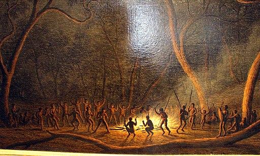 John glover, danza d'indigeni della terra van diemen (tasmania) al chiar di luna, 1831-45 ca. 02