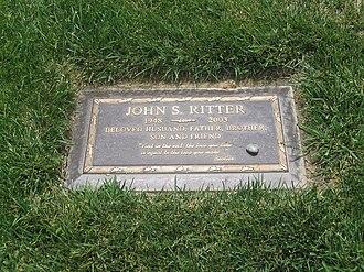 John Ritter - Ritter's gravestone