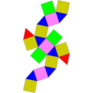 Elongated triangular orthobicupola - Image: Johnson solid 35 net