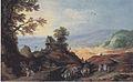 Joost de Momper -Landschaft mit einer Kapelle auf einem Hügel.jpeg