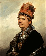 Joseph Brant, painted in London by Gilbert Stuart in 1786