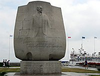 Conrad monument, Gdynia, on Poland's Baltic Sea coast.