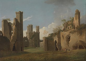 Caernarfon Castle - A painting of Caenarfon castle from the  18th century  by Joseph Farrington