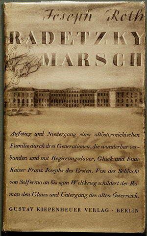 Radetzky March (novel) - Image: Joseph Roth Radetzkymarsch 1932