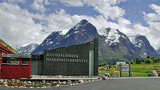 Jostedalsbreen nasjonalparksenter Park Visitors Center in Stryn, Norway