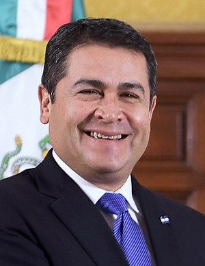 Honduran general election, 2017 - Image: Juan Orlando Hernandez Enrique Peña (cropped)