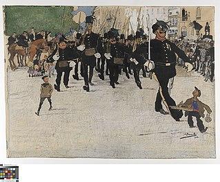 Het défilé van de burgerwacht in Gent