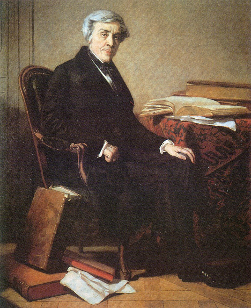 Portrait of Jules Michelet by Thomas Couture