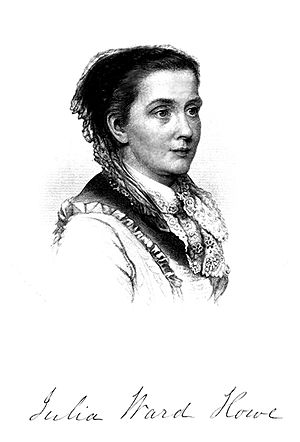 New England Woman Suffrage Association -  Julia Ward Howe, first president of the New England Woman Suffrage Association