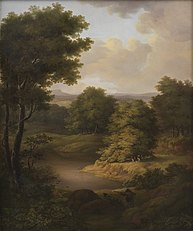 Duck Shooting in a Wooded Landscape