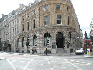 St Martin Outwich - Image: Junction of Threadneedle St and Bishopsgate site of St Martin Outwich