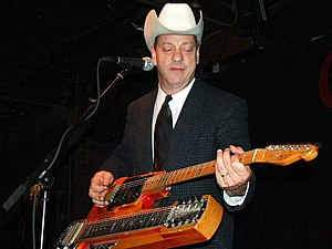 Junior Brown - Brown with his guit-steel at Antone's in Austin, Texas, 2006