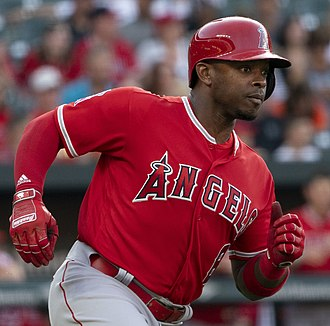 Justin Upton - Upton with the Los Angeles Angels in 2018