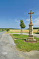 Kříž na konci obce u silnice na Mladeč, Měrotín, okres Olomouc.jpg