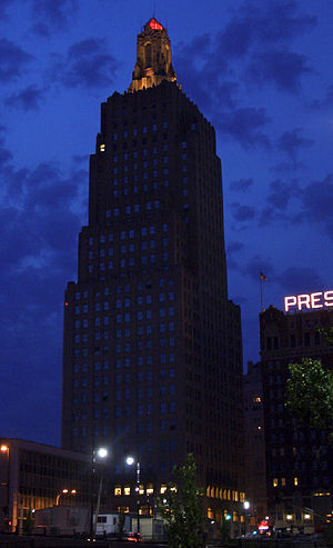 Kansas City Power and Light Building - Image: KCPL Building at Night