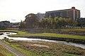 Kago-gawa River and Toyota Boshoku Corporation Sanage Factory, Kamekubi-cho Toyota 2018.jpg