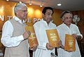 Kamal Nath and the Ministers of State for Commerce & Industry, Dr. Ashwani Kumar and Shri Jairam Ramesh releasing the Annual Supplement to the Foreign Trade Policy 2004-09, in New Delhi on April 19, 2007.jpg