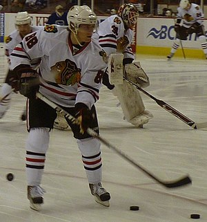 English: Patrick Kane of the Chicago Blackhawk...