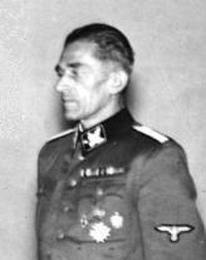 SS-Oberabschnitt Böhmen-Mähren - Karl Hermann Frank, who served as the only commander of the Böhmen-Mähren General-SS Division